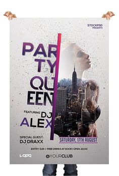 Free Psd Flyer Templates, Flyer Free, Party Queen, Club Flyers, Creative Flyers, Party Poster, Party Flyer, Flyer Design, Poster Designs