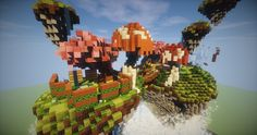 Floating Island Survival Spawn \(^ω^\) Minecraft Project