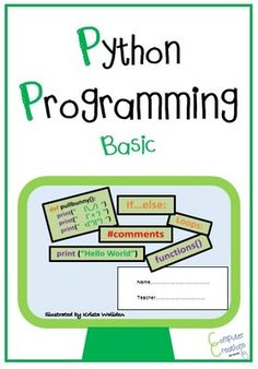 Programming in Python Coding Booklet from Computer & ICT Lesson Plans on TeachersNotebook.com -  (13 pages)  - With the introduction of Computing, this superb booklet (with 6 lessons worth of material) introduces students to Python Programming.