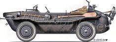 """Engines of the Wehrmacht - """"Schwimmwagen Typ 166"""", .5-ton, Light Car"""