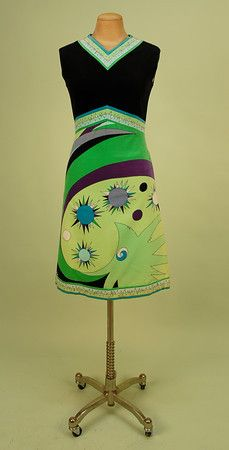 1960's Pucci Dress with Velvet Bodice