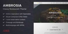Download and review of Ambrosia - Classy Restaurant Wordpress Theme, one of the best Themeforest Entertainment themes {Download & review at|Review and download at} {|-> }http://best-wordpress-theme.net/ambrosia-classy-restaurant-download-review/