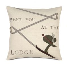 Ski Lodge Pillow - just need a warm blanket now.... #Ski #Utah #CanyonSports