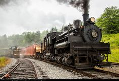 RailPictures.Net Photo: CSRR 6 Cass Scenic Railroad Shay at Spruce, West Virginia by Walter Scriptunas II - www.scriptunasimages.com