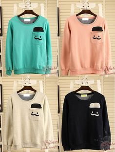 korean fashion cute sweatshirts - Google Search | cute-fashion-and ...