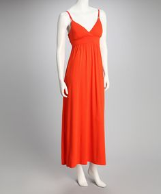 Take a look at this Cherry Tomato Sash Maxi Dress by Feathers on #zulily today!