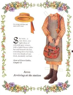 Anne of Green Gables paper doll clothes