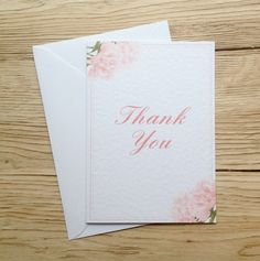 Thank You Card Ruffle Peony Suite by eefaa on Etsy Peony, Your Cards, Thank You Cards, Unique Jewelry, Handmade Gifts, Design, Appreciation Cards, Kid Craft Gifts, Craft Gifts