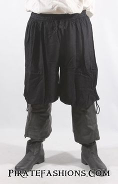 Marooner Pants – Pirate Fashions. Works well with the Rogue shirt, provides a good look for a buccaneer era outfit at a very reasonable price.