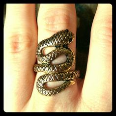 Snake ring Gold snake ring size 6.5 Jewelry Rings