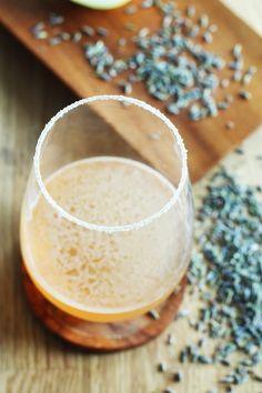 Lavender-Honey Sidecar Cocktail