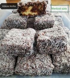 Kókuszkocka nasinak, nagyon jó a recept, napokig puha marad és annyira finom! Hungarian Desserts, Hungarian Cake, Hungarian Recipes, Sweet Like Candy, Homemade Sweets, Sweet And Salty, Winter Food, Food And Drink, Tasty