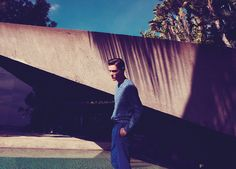 SS12 MENSWEAR CAMPAIGN - This season our creative team took flight to Los Angeles to shoot our spring/summer campaign in the iconic Goldstein house. Meet our sophisticated guy; he favours an artistic approach to tailoring, gets creative with vintage-inspired prints and showcases individuality in bold colours.  Damien Knit, Wickham chinos.