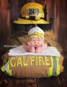 Newborn photography firefighter photography