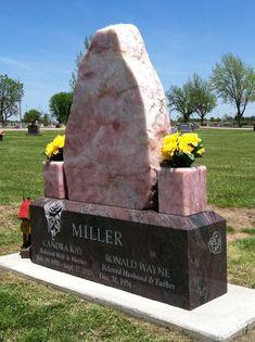 Photo of West Memorials - Memphis, TN, United States. WestMemorials.com custom design of rose quartz and paradiso granite. We design headstones, grave markers and monuments.