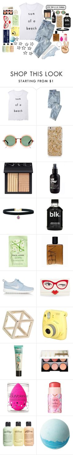 """""""Tumblr AF!"""" by cutienat123 ❤ liked on Polyvore featuring Rebecca Minkoff, Wrap, Linda Farrow, NARS Cosmetics, H&M, NIKE, Kate Spade, Topshop, Benefit and Urban Decay"""