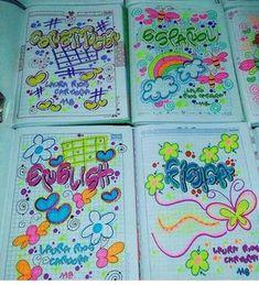 RECUERDA QUE LLEGA LA ÉPOCA ESCOLAR❤🌈 Y CON ELLA MARCAR TUS CUADERNOS PARA INICIAR CON TODA TUS ESTU - dulceamor17 Zen Doodle, Doodle Art, Pencil Drawings Of Flowers, Page Decoration, Diy And Crafts, Paper Crafts, School Notebooks, Mothers Day Crafts For Kids, My Notebook