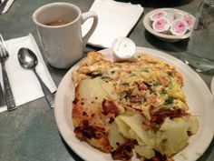Ritter's Hobo Omelette. It tastes how it looks (that is not a compliment.)