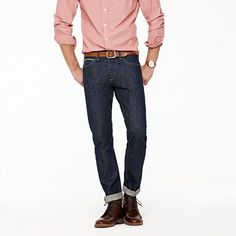 """So, J. Crew is entering the """"raw denim"""" market for men....maybe they'll offer a pair for women too someday?"""