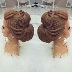 Likes, 35 Comments - Professional Hairstylist ) ( o. - - Likes, 35 Comments - Professional Hairstylist ) ( o - Formal Hairstyles, Bride Hairstyles, Cool Hairstyles, Hair Up Styles, Bridal Hair Inspiration, Peinados Pin Up, Pinterest Hair, Wedding Hair And Makeup, Bridesmaid Hair