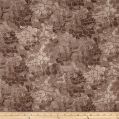 "108"" Wide Charisse Quilt Back Tonal Floral Mocha from @fabricdotcom Designed for Blank Quilting, this 108'' wide quilt backing features a floral pattern. Fabric is perfect for quilt backing, duvets, light curtains and more."