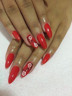 Red one #NailsByOana chek me on Facebook #OanaLaura