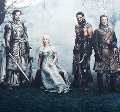 Jamie,Daenerys,Khal-Drogo and Ned Jason Momoa Khal Drogo, Daenerys And Khal Drogo, Emilia Clarke Daenerys Targaryen, Khaleesi, Maester Luwin, Medici Masters Of Florence, Got Game Of Thrones, Nikolaj Coster Waldau, The North Remembers