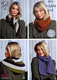 2876596c3414da Womens Knitting Pattern K5016 Ladies EASY KNIT Scarf
