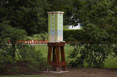 Cool idea for garden centerpiece