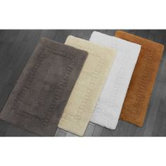 Silk Large Bath Rugs - 24 x 40: Kassatex® Silk Large Bath Rugs are made in Portugal of 80% Cotton / 10% Micromodal / 10% Silk - 240gsf, A touch of silk. These Bath Rugs are famous for their Impressively strong, absorbent and Divine texture.