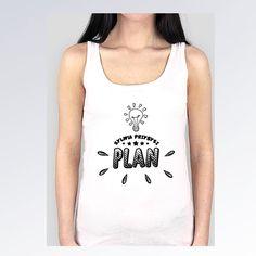 (PREORDER) Koszulka bokserka biała PLAN logo