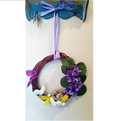 #wianek #wiosna #ptaki #kwiaty #wielkanoc #dekoracje #DIY #handmade #spring #Easter #decorations #wreath #birds #flowers