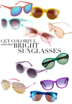 Fun Colorful Sunglasses to BRIGHTEN up your Summer