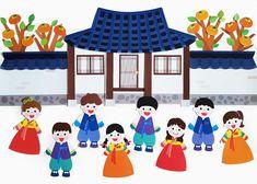 어린이집 환경판 도안, 9월 추석 주제 : 네이버 블로그 Origami, Family Guy, Fictional Characters, Origami Paper, Fantasy Characters, Origami Art, Griffins
