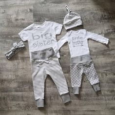 Baby Boy Coming Home Outfit. Matching Sibling Set. Big Sister.