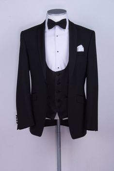 black slim fit dinner suit / tux. www.anthonyformalwear.co.uk