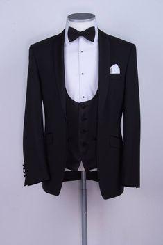 black slim fit dinner suit / tux.  www.anthonyformalwear.co.uk