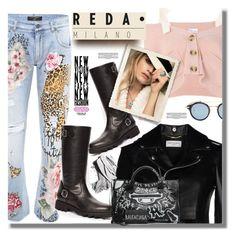 """Reda Milano Fashionable Woman's Boots"" by pesanjsp ❤ liked on Polyvore featuring Yves Saint Laurent, Dolce&Gabbana, RED Valentino, David Yurman, Bobbi Brown Cosmetics, Thom Browne and Balenciaga"