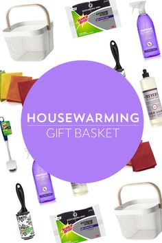Super easy DIY Housewarming Gift Basket!  #CleanFeelsGood #EviteParty #ad @evite @scotchbriteUS
