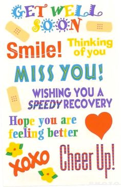 7c31eff3eece2b Get Well Soon Smile Thinking Of You Miss You Graphic - Images