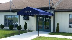 Welcome customers to your front door with an elegant entrance canopy!!! ‪#‎jamestownawning‬ ‪#‎newinstall‬ ‪#‎keepingyoucovered‬ www.jamestownawning.com