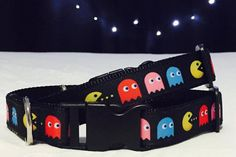 Chase Me  Pacman Dog Collar by mileyandmoscow on Etsy