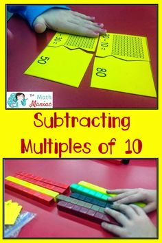 A fun and low prep lesson for working on subtracting multiples of This is such an important prerequisite skill for kids to have before moving on to double digit addition and subtraction. First Grade Activities, Teaching First Grade, 1st Grade Math, Teaching Math, Math Subtraction, Subtraction Activities, Math Activities, Numeracy, Math Games
