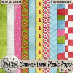 Summer lovin picnic Paper