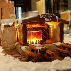 Or this one of the Salt Lick BBQ. | Community Post: 25 Amazing Gingerbread Houses