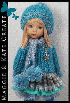 Turquoise-Gray-Outfit-for-Little-Darlings-Effner-13-by-Maggie-Kate-Create. SOLD for $107.50 on 12/10/14.