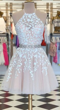 champagne short homecoming dresses, white lace short prom dresses, simple a line. champagne short homecoming dresses, white lace short prom dresses, simple a line formal gowns Source by mariefehl Cheap Hoco Dresses, Cute Formal Dresses, Dama Dresses, Winter Formal Dresses, Pretty Prom Dresses, Prom Dresses For Teens, Formal Gowns, 8th Grade Prom Dresses, Middle School Dance Dresses