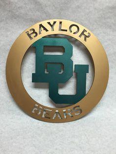 Baylor Bears steel circular sign