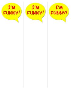 """""""I'm Funny"""" Book Talkers (for printable versions of this and more book talkers, go to http://www.flickr.com/photos/vblibrary/sets/72157628831402333/with/6587056869/)"""