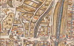 Le Gibet de Montfaucon - Plan de Truschet et Hoyau (1550)